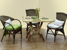 Стол ЧФЛИ Триумф кухонный обеденный квадратный плетеный из ротанга нераскладной, фото 2