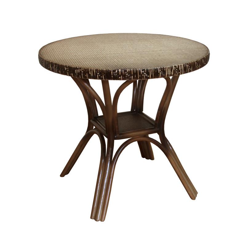 Стол ЧФЛИ Триумф кухонный обеденный круглый плетеный из ротанга нераскладной