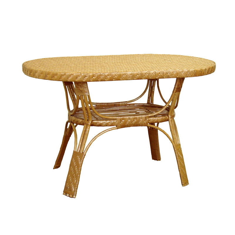 Стол ЧФЛИ Юбилейный кухонный обеденный квадратный плетённый из лозы нераскладной