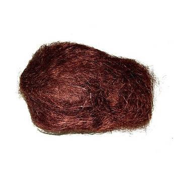 Наполнитель для подарка Сизаль темно-коричневого цвета 10 грамм