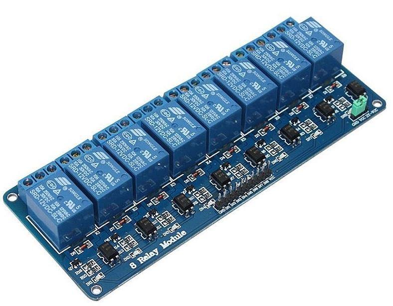 8-канальный релейный модуль 12В для Arduino PIC ARM AVR