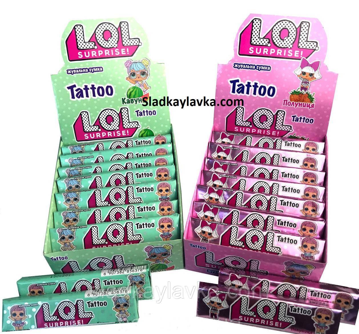 Жевательная резинка LOL Tattoo 20 шт (Vitaland)