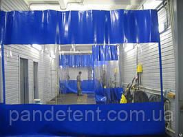 Промышленные шторы для автомойки из прозрачной ПВХ пленки