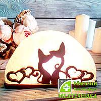Соляная лампа «Коты с сердцами» 1,5 кг