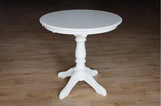 Стол Микс Мебель Чумак Слоновая кость кухонный обеденный круглый нераскладной , фото 2