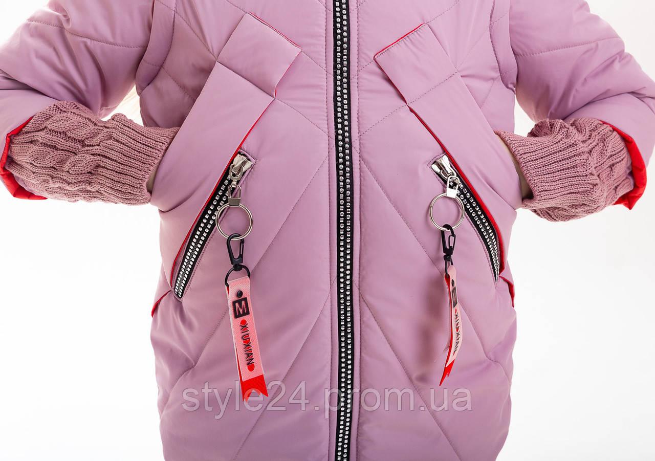 Весняна куртка- жилет на дівчинку ростом 122-152  продажа a79222d9789f9