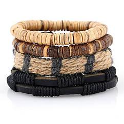 Комплект браслетів - З соломою