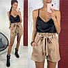 Женские шорты с поясом в расцветках. ЛД-3-0219, фото 4