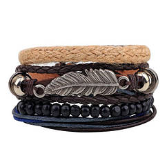 Комплект браслетів - Перо