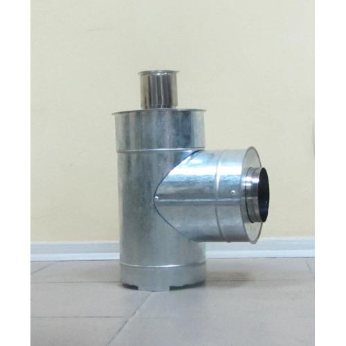 Тройник для дымохода 45°/87° нержавеющая сталь 0,5 мм с оцинковкой
