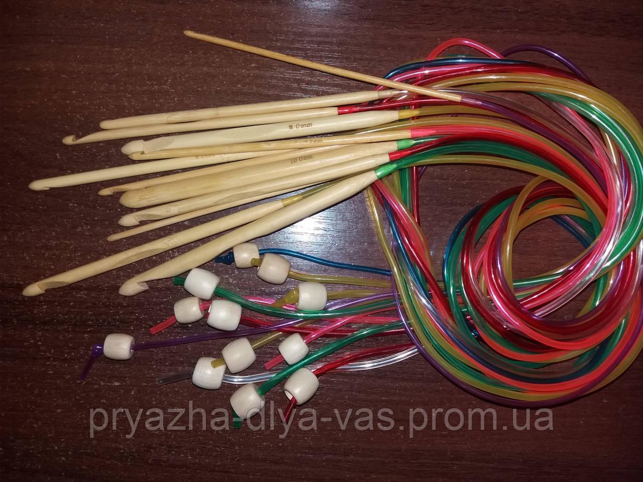 крючок для тунисского вязания бамбуковый 30 цена 20 грн купить