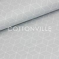 ✁ Відрізи тканини Шестигранники на сірому