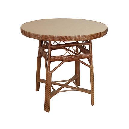 Стол ЧФЛИ СЖ-2 кухонный обеденный круглый плетённый из лозы нераскладной, фото 2