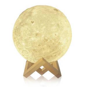 "3D светильник-ночник ""Луна"" 15 см, лампа, 3D Moon Touch Control"
