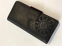 Гаманець із якісної шкіри зроблений вручну чорний