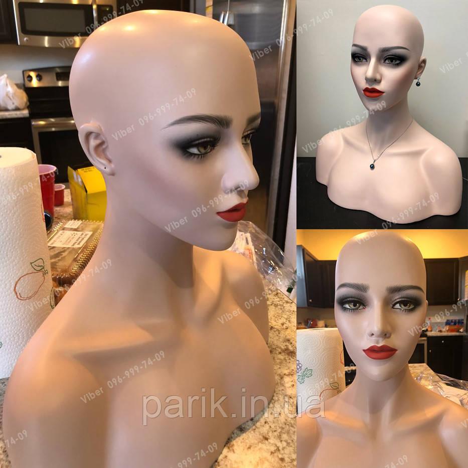 Манекен подставка для украшений или парика, голова красивая женская, бюст