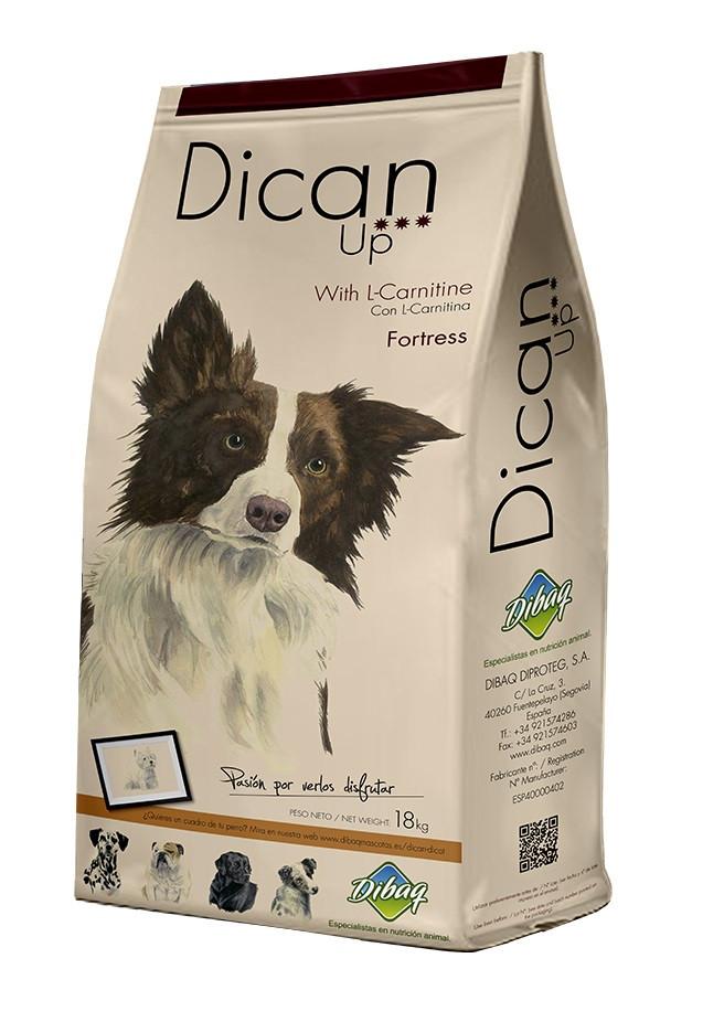 Сухой супер-премиум корм DicanUp Fortress для взрослых собак больших и средних пород с курицей,18 кг