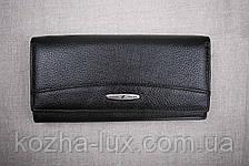 Кошелек женский кожаный классический чёрный 826ч, натуральная кожа, фото 2