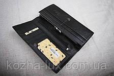 Кошелек женский кожаный классический чёрный 826ч, натуральная кожа, фото 3