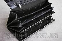 Кошелек классический чёрный 826ч, натуральная кожа , фото 2