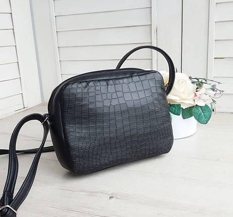 Стильная женская сумка через плечо черная, фото 2