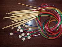 Крючок для тунисского вязания бамбуковый №8.0