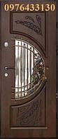 Двері вхідні металеві МДФ патиновані