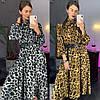 Женское платье с модным принтом и поясом в расцветках. ЛД-5-0219, фото 3