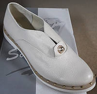 Туфли женские на низком ходу из натуральной кожи от производителя модель  СД17-436 c309dc5c57836