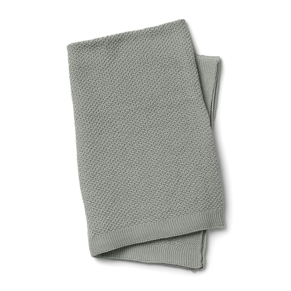 Elodie Details - Вязаное одеяло Oeko-Tex, Mineral Green