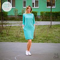 Платье свитшот для беременных и кормящих мам HIGH HEELS MOM (мятный, размер S/M)