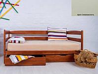Детская односпальная кровать Ева с ящиками 80х190, цвет слоновая кость