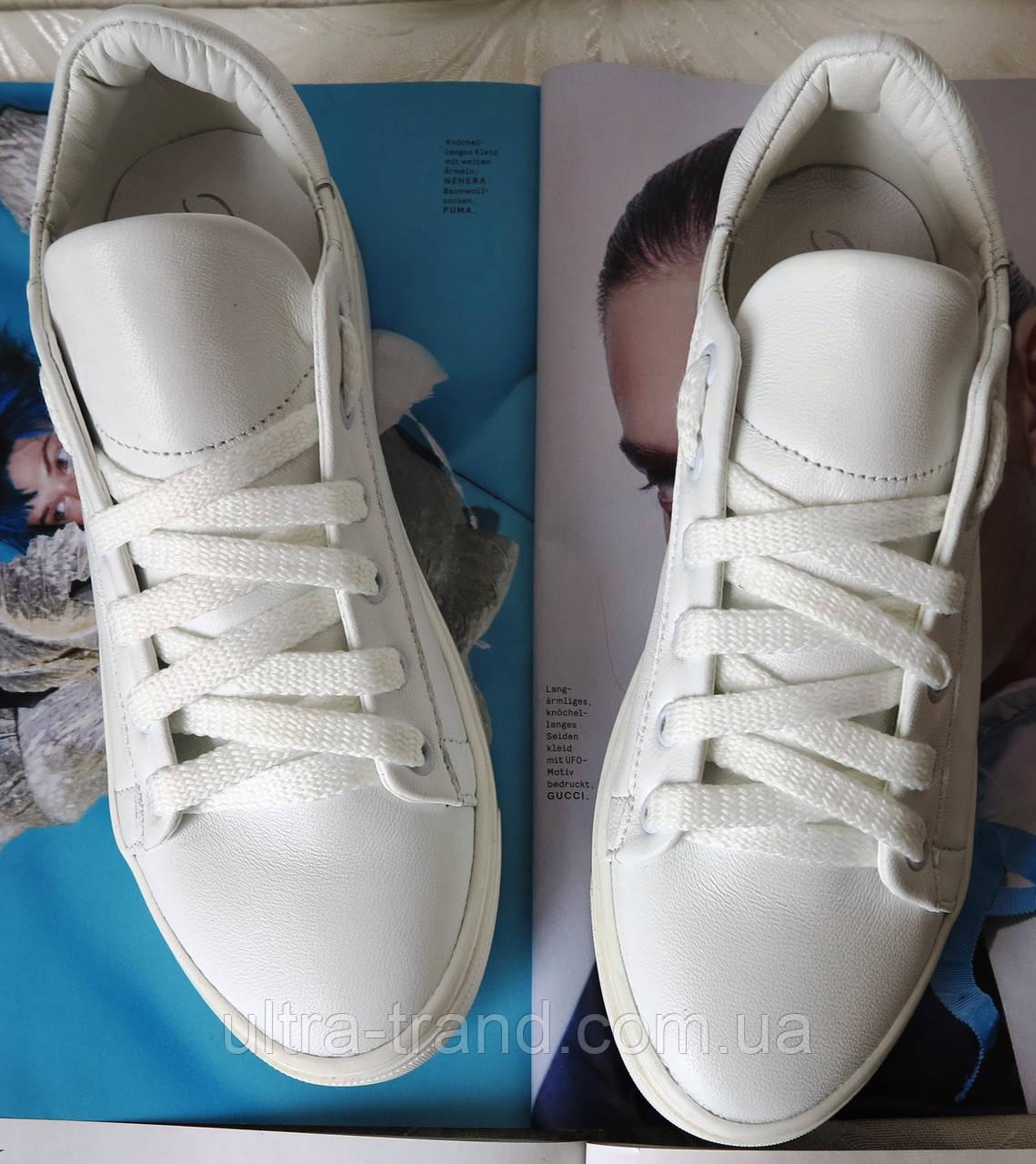 White! Белые стильные кожаные кеды обувь весна лето для мальчиков и девочек унисекс.