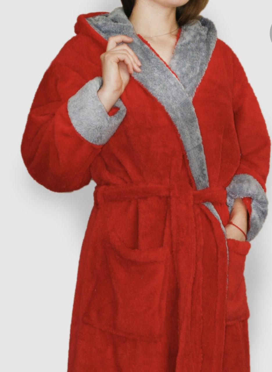 Махровый халат с вставкой
