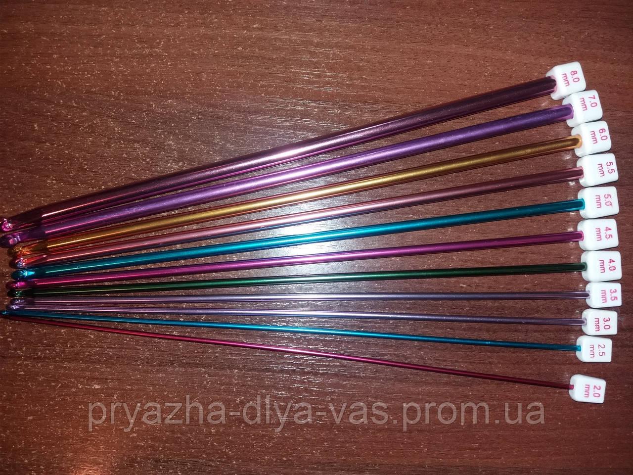 Крючок для тунисского вязания алюминиевый №3.5