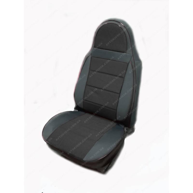 Чехлы на сиденья Ауди А4 (Audi A4) (универсальные, кожзам+автоткань, пилот)
