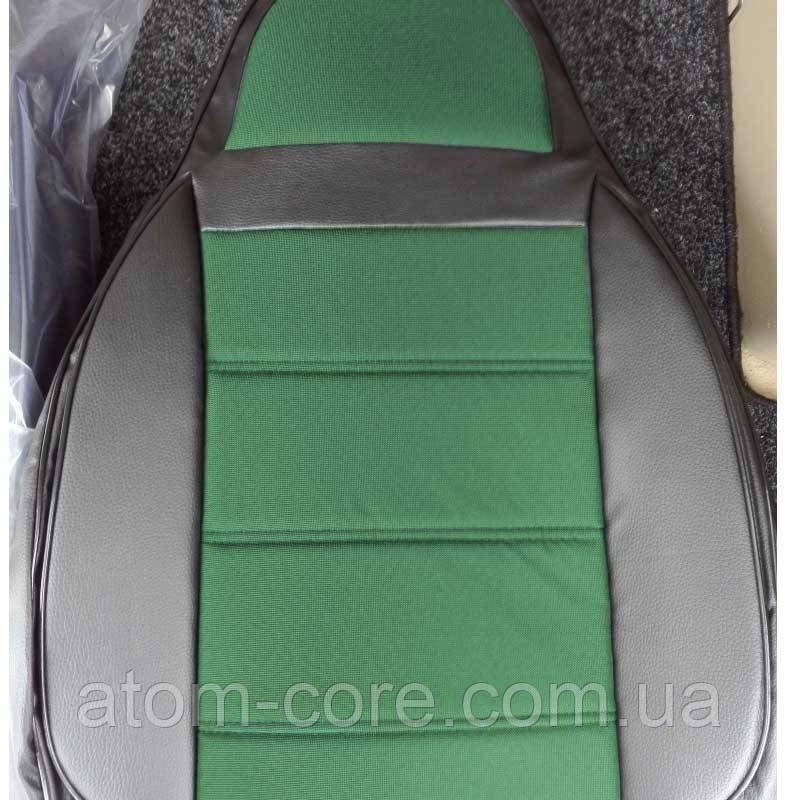 Чехлы на сиденья Ауди А6 С5 (Audi A6 C5) (универсальные, кожзам+автоткань, пилот)