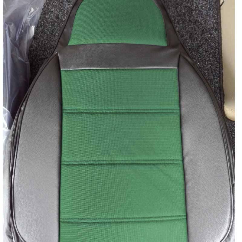 Чехлы на сиденья БМВ Е46 (BMW E46) (универсальные, кожзам+автоткань, пилот)