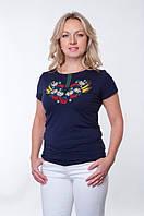 Женская вышиванка с узором колоска