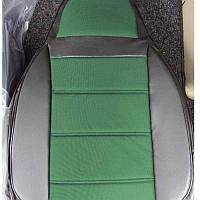 Чехлы на сиденья Хендай Акцент (Hyundai Accent) (универсальные, кожзам+автоткань, пилот)