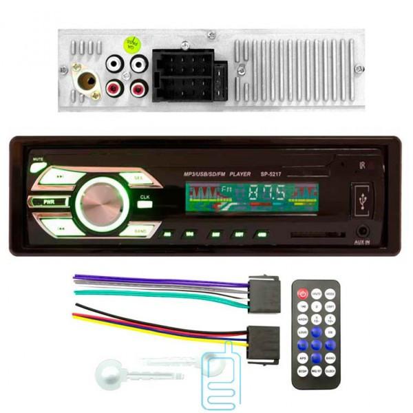Автомагнитола подсветка хамелион Car Audio SP-5217 магнитола 1DIN Евроразъем ISO стильная с диском