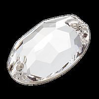 Пришивные овалы Preciosa (Чехия) 16х11 мм Crystal 2-й сорт