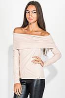 Свитер женский со спущенными плечами, из мягкого материала 64PD279 (Пудровый)