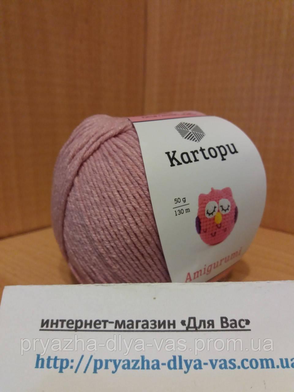 Летняя пряжа (49%-хлопок, 51%- акрил; 50г/ 130м) Kartopu Amigurumi K763