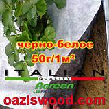 Агроволокно p-50g 1.6*100м черно-белое Agreen итальянское качество, фото 5