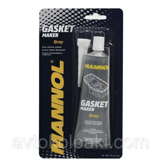 Герметик прокладок серый Silicone-Gasket MANNOL 85г