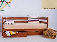 Детская односпальная кровать Ева с ящиками 90х200, цвет бук натуральный