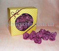 Вафельные розы большие  ФИОЛЕТОВЫЕ