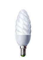 Лампа енергозберігаюча DELUX 220v 9w 6400K E14/27 Fr Candle Twisted