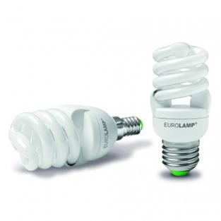 Лампа EUROLAMP енергозберігаюча 12w 2700K E14